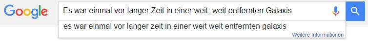 Google Star Wars Easter Egg Eingabe