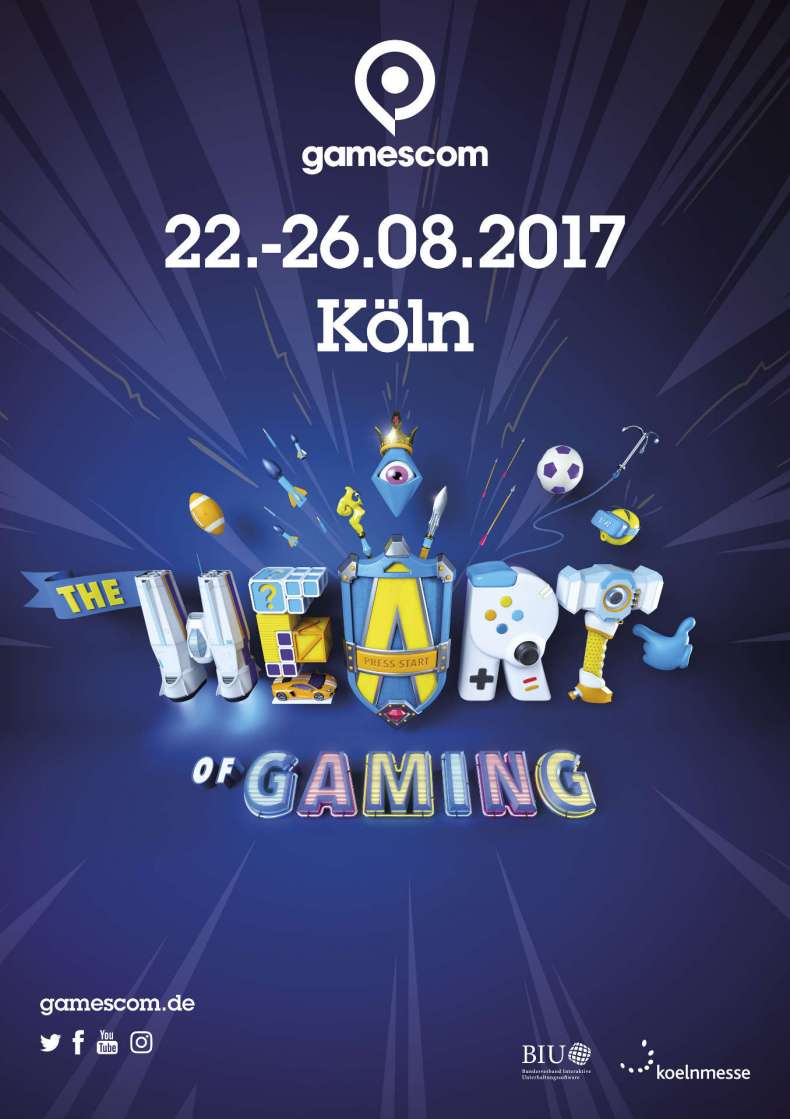 Gamescom 2017 Heart of Gaming Motto